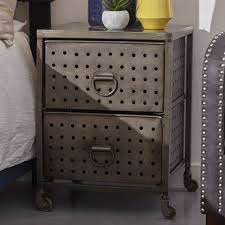 Metal Nightstands With Drawers Metal Nightstands With Drawers Bonners Furniture