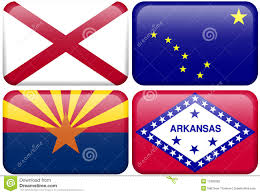 Flag Of Alabama State Flag Alabama Alaska Arizona Arkansas Stock Illustration