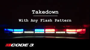 code 3 pursuit light bar code 3 s pursuit lightbar flash patterns youtube