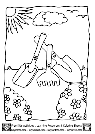 Simple Garden Coloring Pages Getcoloringpages Com Tools Coloring Page