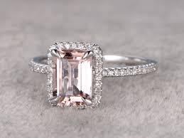emerald cut wedding band emerald cut morganite engagement ring wedding band 14k