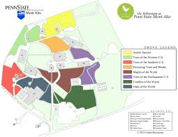 Penn State Main Campus Map by Grove Map The Arboretum At Penn State Mont Alto