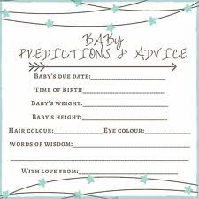 advice to the cards baby shower advice cards ebay