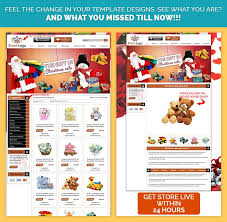 santa theme gift shop custom ebay store template design at 29 99