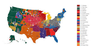 Florida County Maps by Facebook Breaks Down College Football Fans By County Map Ncaa