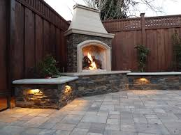 Backyard Corner Ideas Flickering And Flaming Outdoor Fireplace Designs Frantasia Home