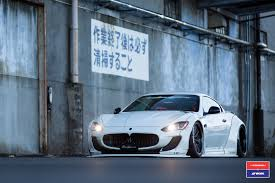 custom maserati liberty walk maserati granturismo in white gets custom stance and