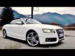 audi s5 convertible white audi s5 cabriolet driving accelerations and sound