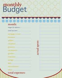 12 monthly bill template budget forms pdf organizer template 3