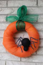 doodlecraft pumpkin spider halloween wreath