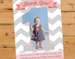 first birthday thank you card pink u0026 gold glitter thank you