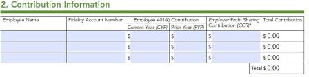 fidelity solo 401k profit sharing contribution question