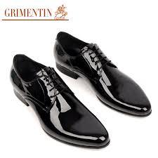 wedding shoes office grimentin men wedding shoes genuine leather black lace up