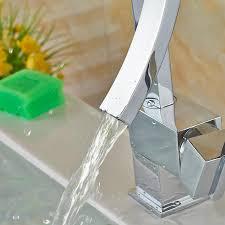 unique desing single handle waterfall basin faucet tap deck