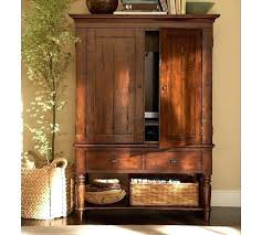Hooker Tv Armoire Armoires Tv Armoire With Pocket Doors Wooden Tv Armoire With