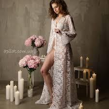 white honeymoon lace bridal robe f3 from alingerie on etsy