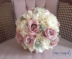 artificial flower bouquets bridal bouquet rustic bouquet dusty bouquet baby s breath
