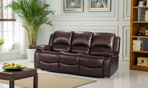 3 Seat Recliner Sofa by Luxury Electric Valencia 3 2 1 Bonded Leather Recliner Sofa