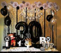 30th birthday party ideas black and gold 30th birthday party favor stickers set of 324 30