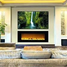 Electric Wall Fireplace Modern Wall Mounted Electric Fireplace With White Color Global