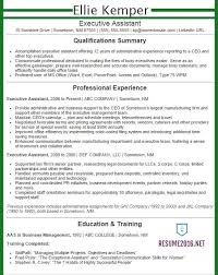 Resume Templates For Administration Job by Executive Assistant Resume Examples 2016 Get Your Job