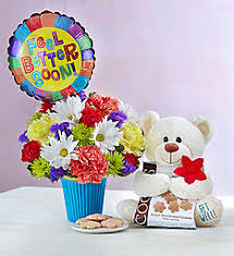 get well soon basket ideas get well flowers get well gifts 1 800 flowers 10162