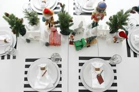 a cheerful kid friendly christmas tablescape the wicker house