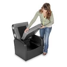 X Rocker Storage Ottoman Sound Chair X Rocker 0711701 Flip Storage Ottoman Sound
