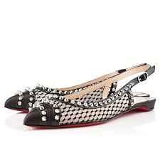 christian louboutin manovra flat sandals black cl 00354 98 48