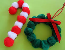 pom pom ornaments craft preschool crafts for