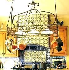 kitchen island pot rack lighted pot rack pot and pan rack surprising lighted pot rack