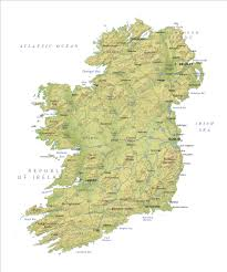 Map Ireland Ireland Relief Map Ireland Map
