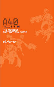 astro gaming headphone a40 pdf instruction manual free download