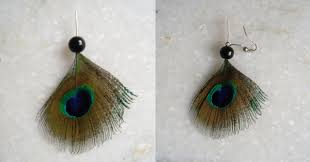 how to make feather earrings with how to make earring with peacock feather