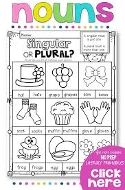 kindergarten worksheets irregular plurals worksheets preschool