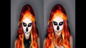 fem ghost rider face paint tutorial 31 days of halloween youtube