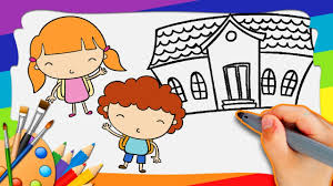 back to draw and color how to draw and color easy