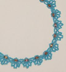 free bead patterns and ideas by sandra d halpenny blue loops