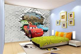 Aliexpresscom  Buy D Wallpaper Custom Wallpaper Three Car - Kid room wallpaper
