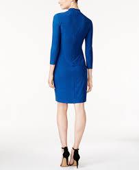 anne klein printed faux wrap dress dresses women macy u0027s