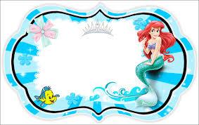 mermaid free printable invitations cards photo