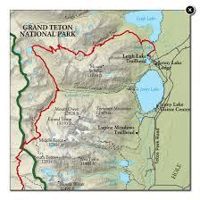 grand national park map best grand teton national park hike trail map national