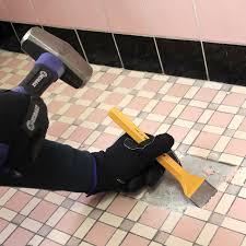 prep a tile floor bathroom tile removal tools tsc