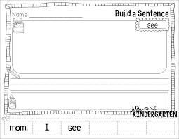 sight word sentences worksheets worksheets