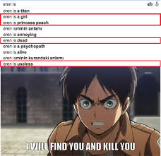 Attack On Titan Memes - stop to laugh at eren attack on titan shingeki no kyojin