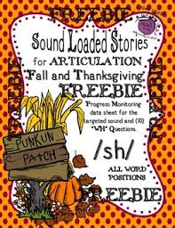 freebie fall thanksgiving sound loaded stories for articulation wh
