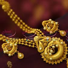 nl1803 one gram multi strand mala mat finish gold design
