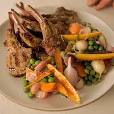 cuisine legume jardinière de légumes and grilled chops recipe ludovic