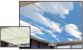 Sky Ceiling Light Big Skyscapes Multi Panel Designs