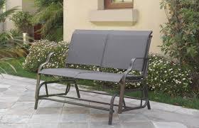 Textilene Patio Furniture by P50118 Liz P5 Outdoor Loveseat Glider Dark Grey